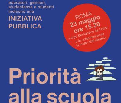 Manifestazione per la scuola a Cagliari