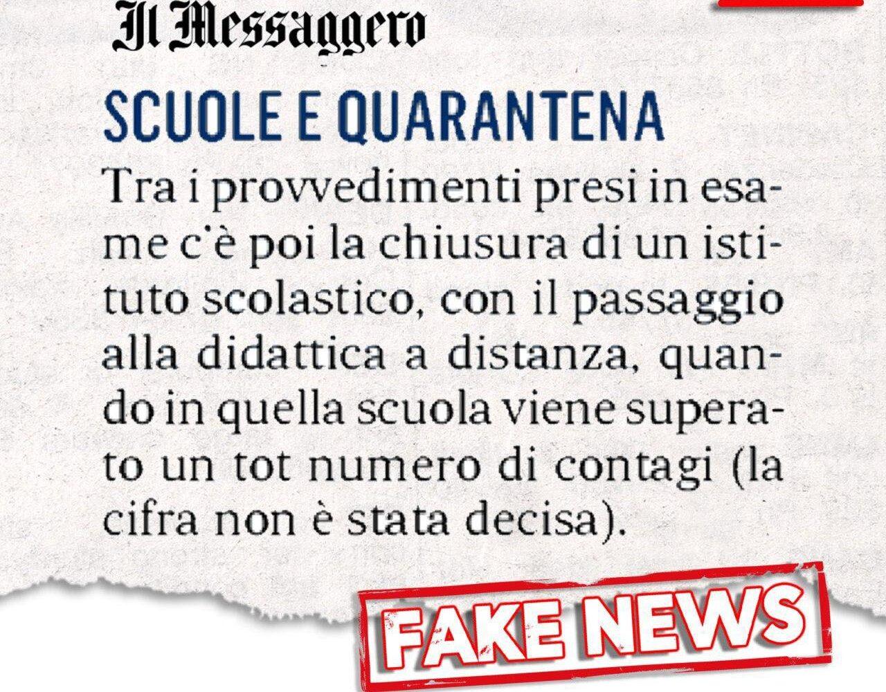 fake news Azzolina